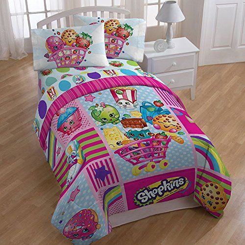 Shopkins Patchwork Girls Full Comforter & Sheet Set (5 Piece Bed In A Bag) + HOMEMADE WAX MELT //Price: $53.28 & FREE Shipping //     #hashtag4