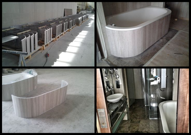 Lightweight marble panel with Aluminum Honeycomb for bathtub covering