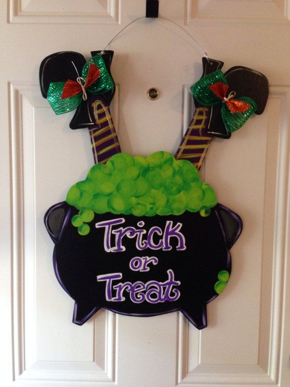 Hey, I found this really awesome Etsy listing at https://www.etsy.com/listing/206518469/halloween-door-hangerwitch-door