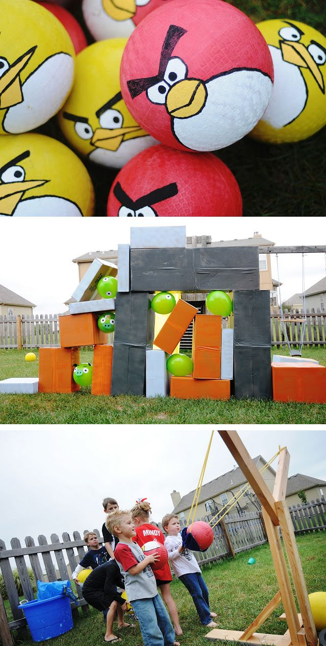 Angry Bird game/ party. For Little Mr. C.