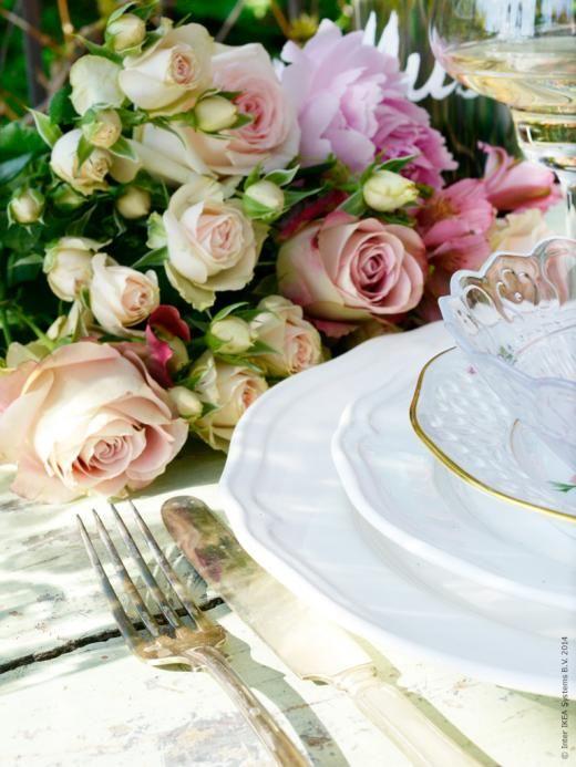ARV tallrik och assiett, FRODIG skål, vintagefat med blommor.
