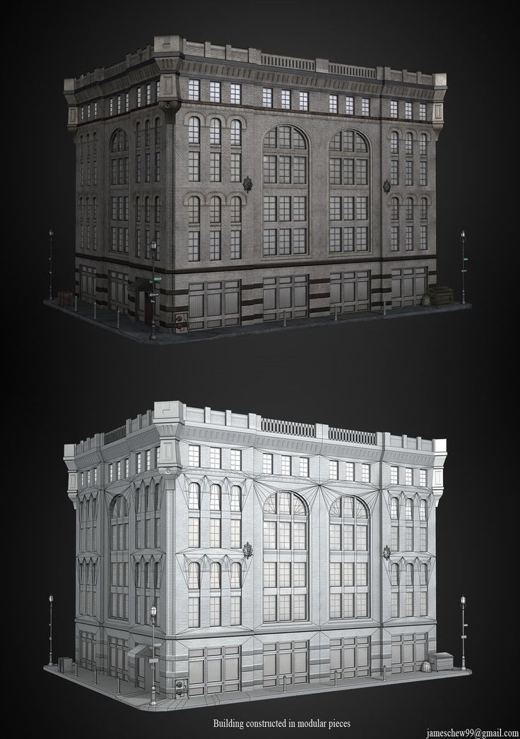 Modular building, James Chew on ArtStation at https://www.artstation.com/artwork/modular-building-da1e50f9-9401-4afd-9d11-cc7ed8c906c4