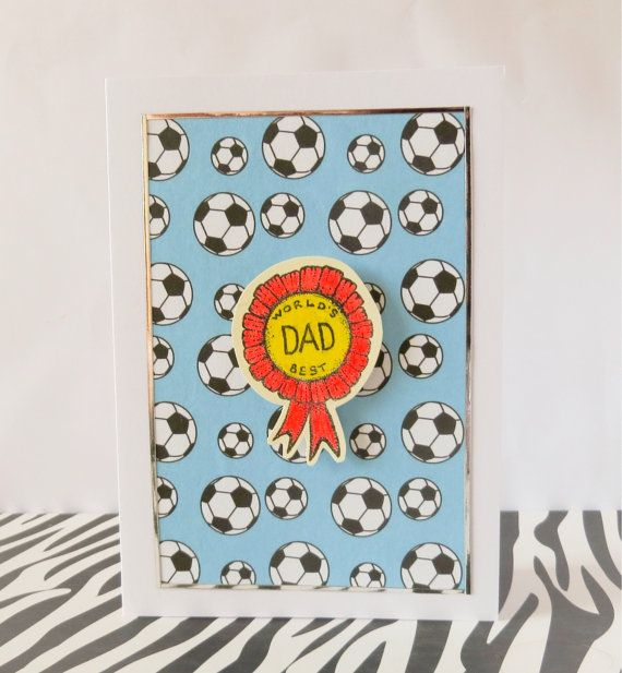 World's Best Dad Greeting Card  Father's day for by ZwKaHandCrafts, £2.00