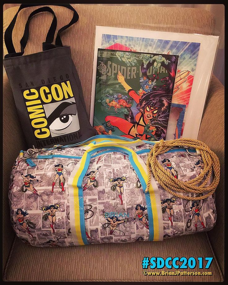 Packing up for the loot for my journey back to SanFrancisco this afternoon/evening.  #SDCC #SDCC2017 #collectibles #comics #comicbooks #comicbook #fitness #superheroes #spiderwoman #art #artist #bag #comiccon #gym #travel #traveling #sunday #sundayfunday #sundaymorning #sundays #passion #home #love #love #color #gay #sandiego #sf #wonderwoman #monogram