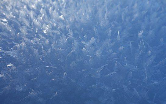Sneeuw, Crystal, Blauwe, Koud