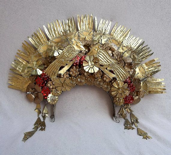 Vintage Tiara Sumatra Indonesia Wedding Headdress Crown