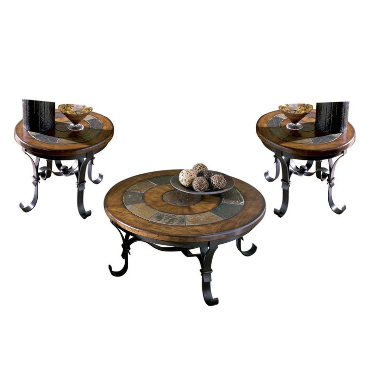 Have to have it. Riverside Stone Forge Round Coffee Table Set - $1516.5 @hayneedle.com