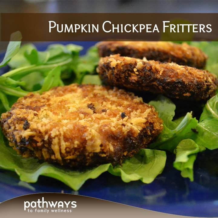 Pumpkin Chickpea Fritters - http://recipes.pathwaystofamilywellness ...