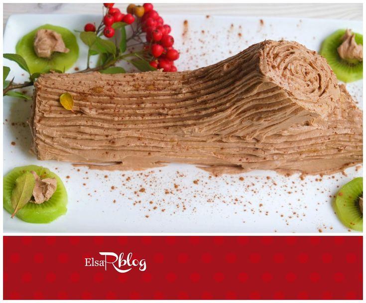 Chocolade tak/ boomstam voor Kerst. deze taart maakt jou Kerstdiner nog mooier en lekkerder. Met een vulling van chocolade of Nutella maakt het nog specialer. Is een super presentatie. Is een portugees recept dat rond Kerst niet kan ontbreken. De naam Tronco de Natal is vertaald: Chocolade boomstam en zo lijkt het ook. Deze cake is makkelijk om te maken. In ongeveer een uur ben je klaar. Tip: voor de Kerst of Paasbrunch