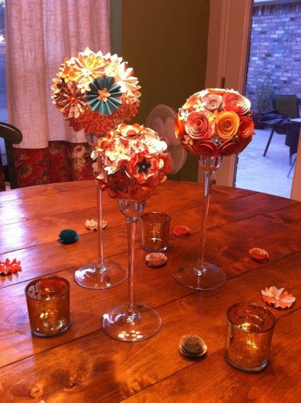 Best ideas about paper centerpieces on pinterest