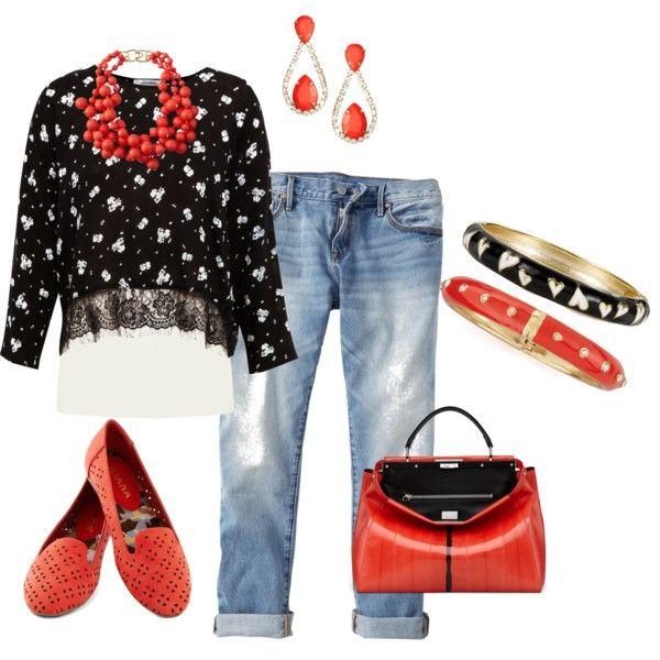 Every day chic. Black and coral for spring. Fashion over 40.