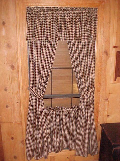 Primitive Curtains   ... , Primitive Curtains, Homespun Curtains, Country  Primitive Curtains