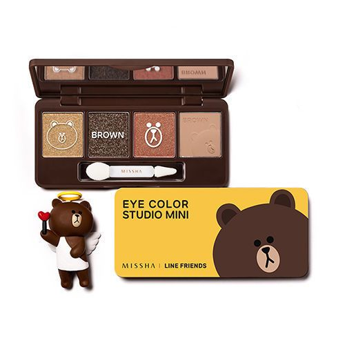 Missha Line Friends Eye Color Studio Mini - Strawberrycoco