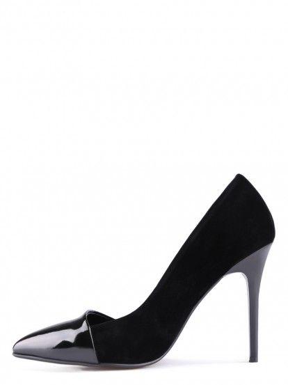 Pantofi de damă cu toc înalt TENDENZ - negru
