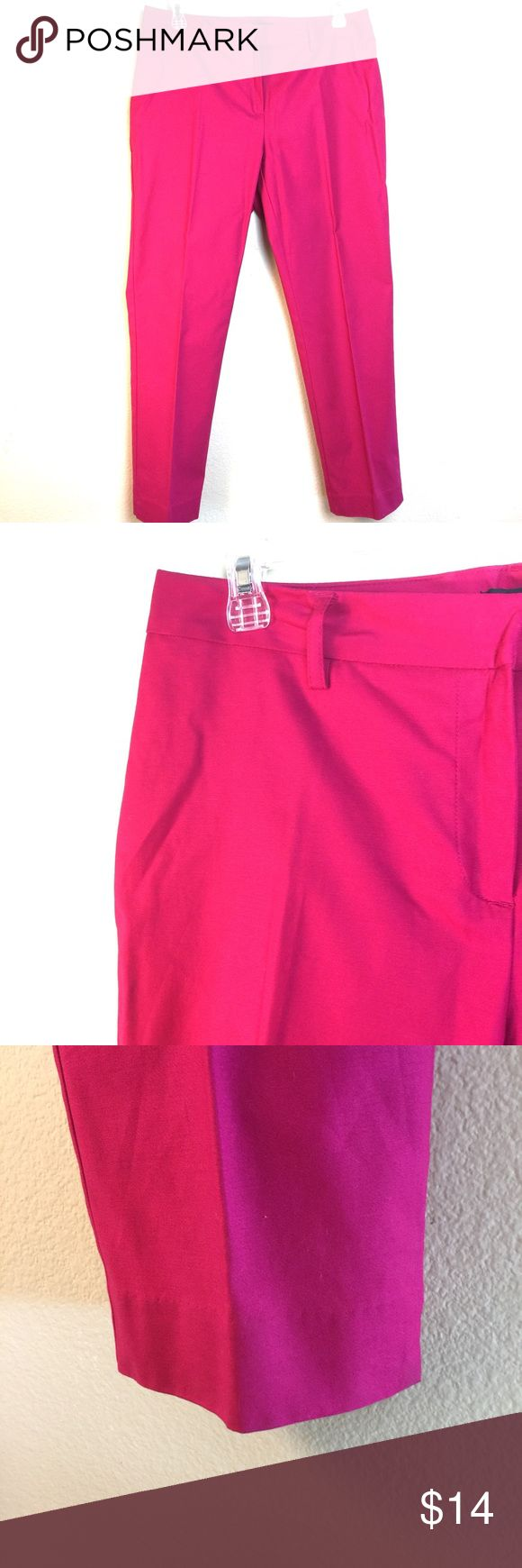 Hot Pink Stretch Crop- Never Worn SZ 6 Straight leg, very nice condition. Rafaella Pants Ankle & Cropped