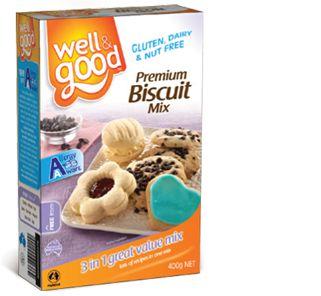 Well and Good Gluten Free Premium Biscuit Mix. #wellandgood