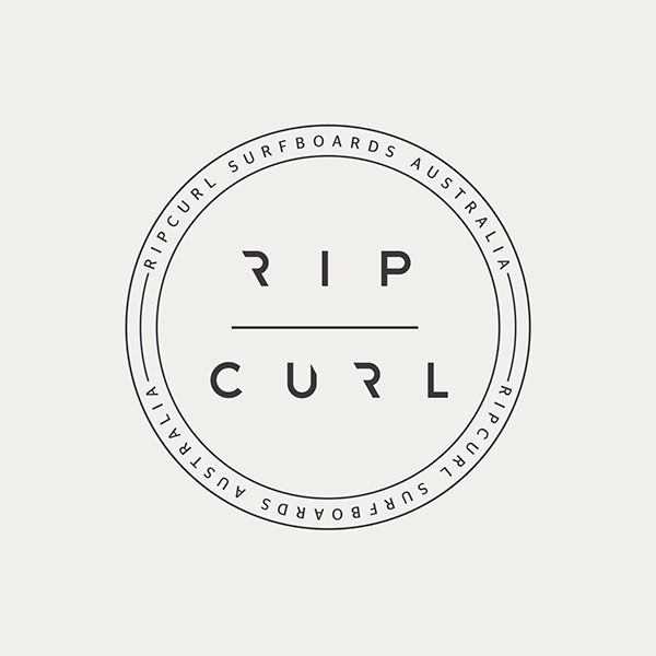 Various logos for Rip Curl surfing company