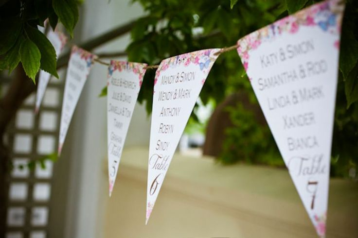 Have a look at this unique and fun table seating idea in place of a table seating chart. Used at one of our styled shoots #wedding #fun #ideas #signage