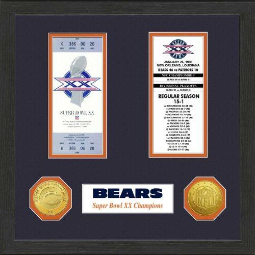 NFL Chicago Bears Super Bowl Ticket Collection Wall Frame -- Read more  at the image link.