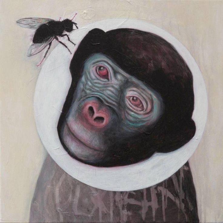 "Saatchi Art Artist Tanja Hirschfeld; Painting, ""Blue Monkey"" #art"