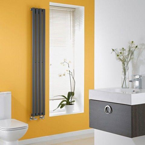 Milano Aruba Slim 1600mm x 236mm - Anthracite Space-Saving Vertical Designer Radiator - http://www.bestheating.com/anthracite-space-saving-vertical-designer-radiator-1600mm-x-236mm.html