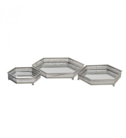 S_3 METALLIC MIRRORED TRAY IN ANTIQUE SILVER COLOR 36_5X32X6