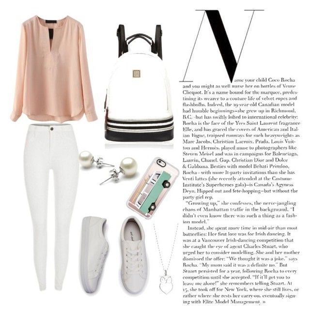 """""""Back to school dress-coded outfit"""" by chrysapan on Polyvore featuring River Island and Casetify"""