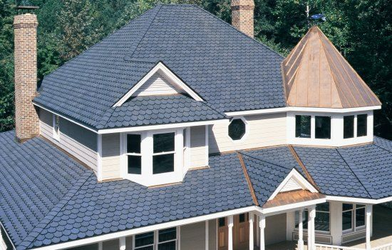 Certainteed Carriage House Shingles Roof Victorian Blue