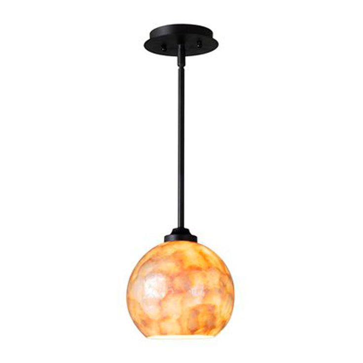 capiz shell globe pendant small shades of light. Black Bedroom Furniture Sets. Home Design Ideas