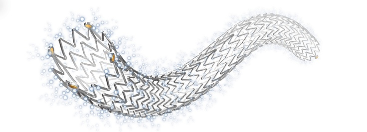 Cook Medical is First to Win FDA Approval of Drug-Eluting Stent     11/16/2012 8:23:44 AM    Cook Medical has received FDA approval for the first drug-eluting stent to treat peripheral artery disease in the U.S. The Zilver PTX Drug-Eluting Peripheral Stent is a self-expanding metal stent coated with the drug paclitaxel to help prevent recurring narrowing of the artery. Drug-eluting stents are currently approved for use in coronary arteries in heart attack patients.