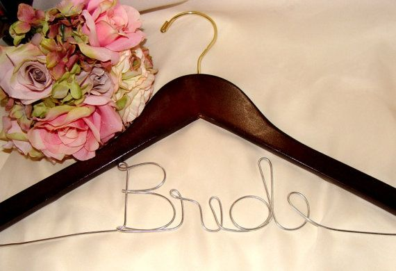 Personalized Custom Wedding Dress Hanger For Brides And