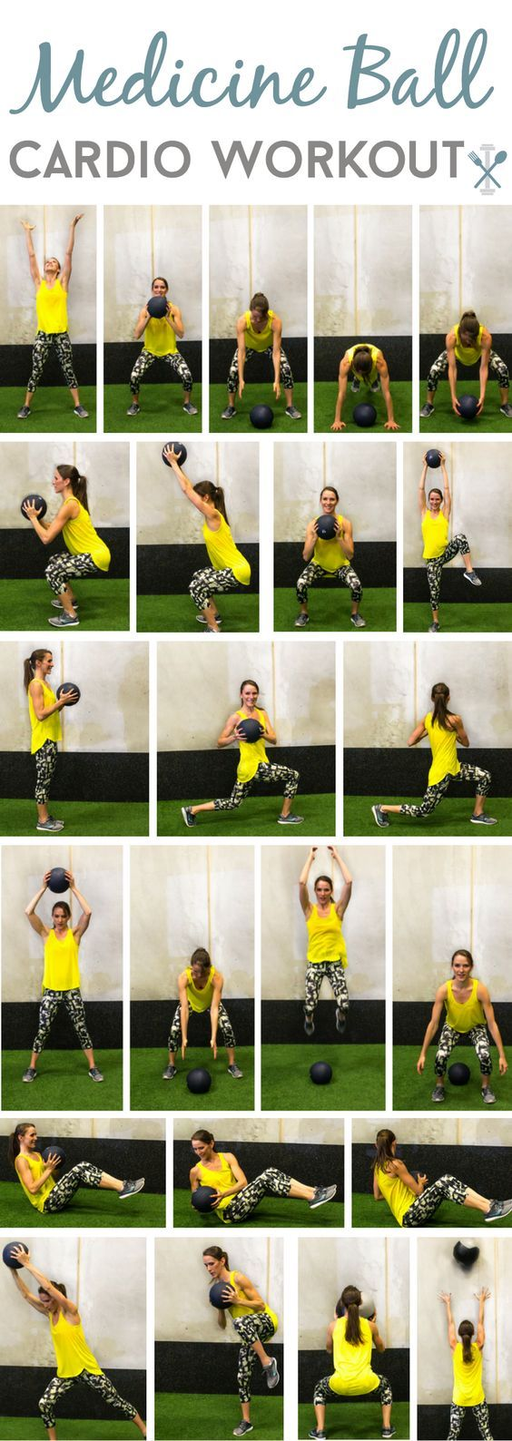 Total-body medicine ball workout - cardio and muscle sculpting session in just over 30 minutes!