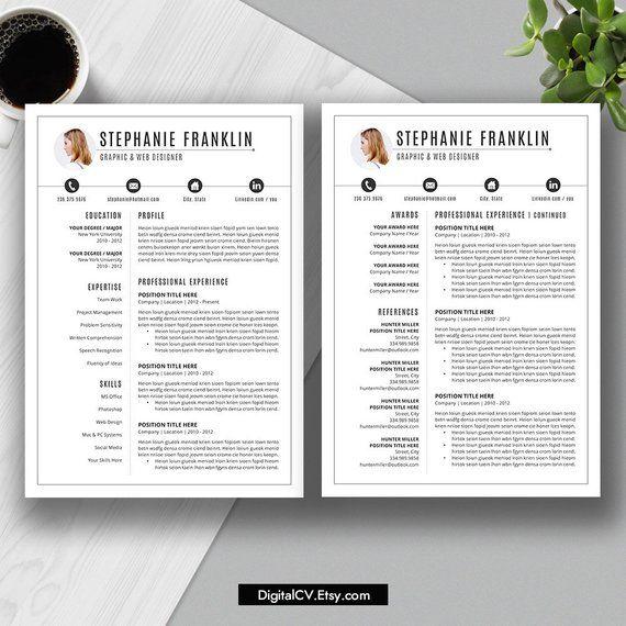 2019 cv resume templates cover letter template digital editable