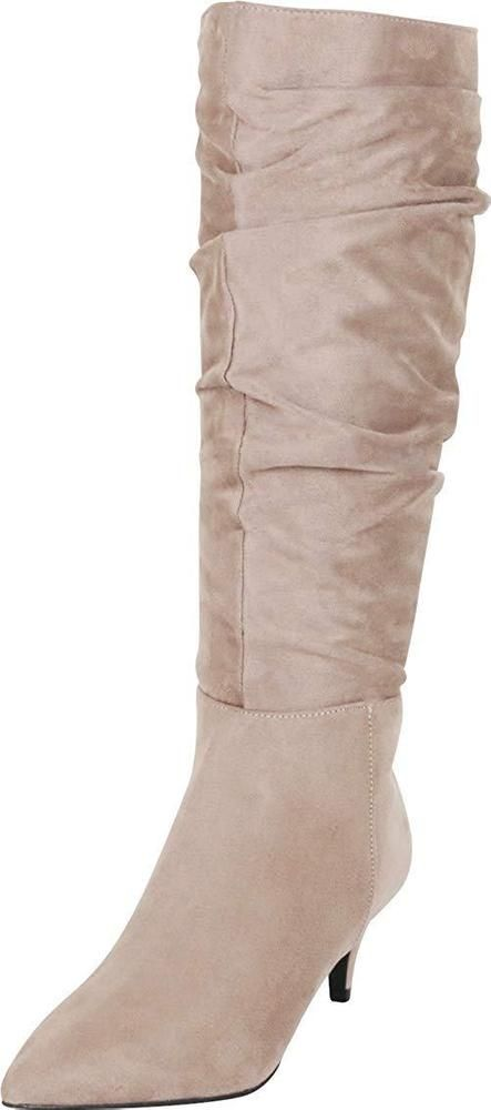 c463ad188b58 Cambridge Select Women s Pointed Toe Slouch Kitten Mid Heel Knee-High Boot   fashion  clothing  shoes  accessories  womensshoes  boots (ebay link)