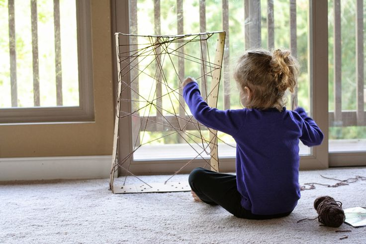 Halloween Fine Motor:  Giant Lacing Spiderweb from Fun at Home with Kids