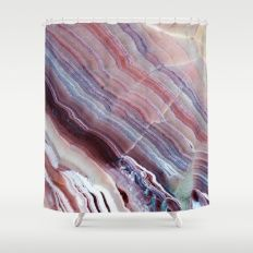 Striped Quartz Shower Curtain #agate #quartz #rocks #minerals #crystals #prettystuff #hygge