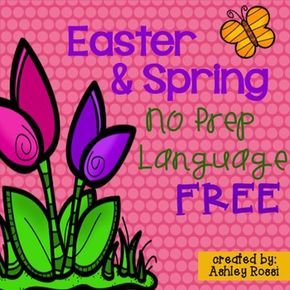 Speech therapy activities for spring! This is a small sample of:Easter and Spring No Prep Language full of language activities that are print and go for easy, no fuss therapy planning!**please leave feedback if you enjoy this freebie. Thanks!See what I'm sharing on my Sweet Southern Speech blog!created by: Ashley Rossi
