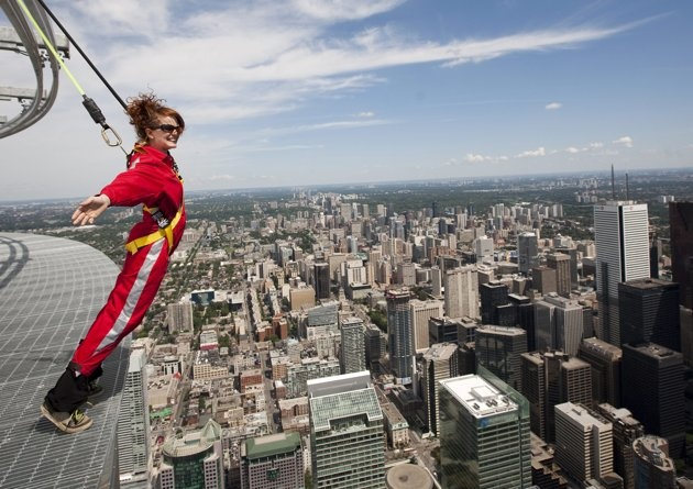 If you're feeling daring, try the CN Tower   Edgewalk! See the city from the tallest building in Canada! For more skyhigh adventures, check out: http://www.summerfunguide.ca/013/outdoor-adventures.html #summerfunguide #thingstodoinontario