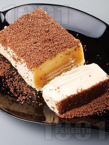 Рецепта за Бисквитена торта с желиран крем праскова - начин на приготвяне, калории, хранителни факти, подобни рецепти