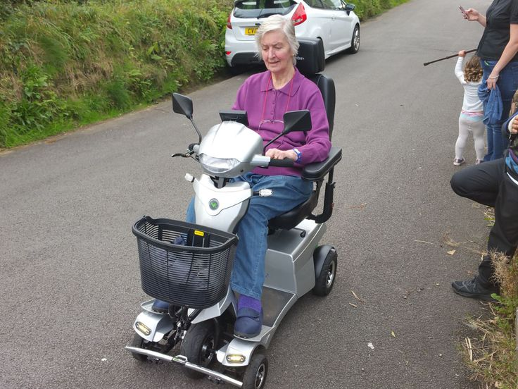 Mrs Law enjoying her Vitess 2 mobility scooter get your demo here http://contact.quingoscooters.com/social-mobility-scooters