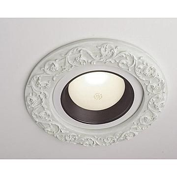 recessed lighting accents like a crown medallion for recessed lights
