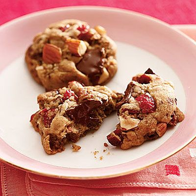 Cherry-Almond-Chocolate-Chunk Cookies - Cookie Recipes that are guilt-free - Health Mobile