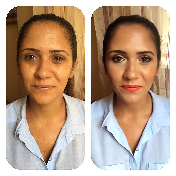 Makeup: Before and After