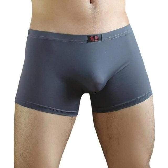 304e655d435 Sexy Men Boxers Solid 6 Colors Underwear Shorts Pouch Soft Underpants Plus  Size Panties Fat Trunk Male