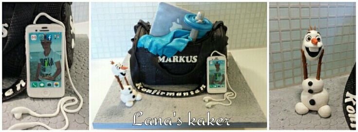 Sports bag cake  www.lanaskaker.123hjemmeside.no