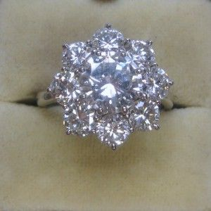 Diamond Cluster engagement ring