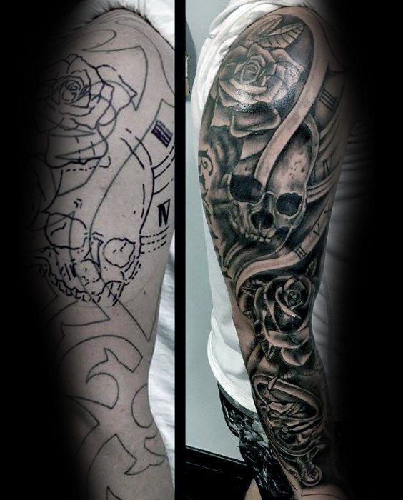 50 Tattoo Cover Up Sleeve Design Ideas For Men - Manly Ink | Tattoos ...