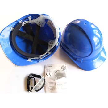 Pinnacle Comfort Safety Hard Hat - Blue    The Pinnacle safety Helmet is a distinctive sleek styled, modern shell, constructed from HDPE. The Pinnacle is a well balanced and light weight hard hat that offers unparalleled protection agasinst inpacts. A premium hard hat with a Terylene 6-point harness, sweatband, with vents and FREE Chinstrap.