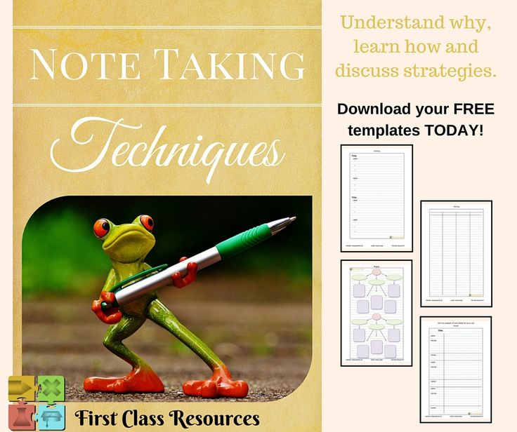 Note Taking Techniques - access this bundle at http://firstclassresources.us11.list-manage.com/subscribe?u=f87848ebf1947396dbf1d7ed0&id=d455380490  ENJOY :-)