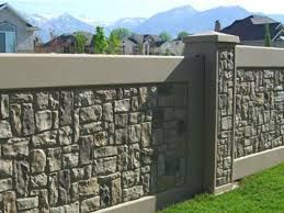 Image result for timber and brick fence